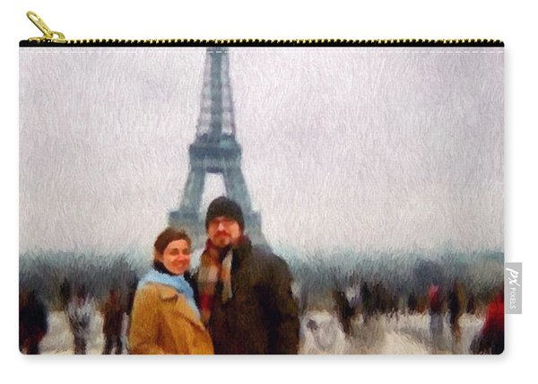 Winter Honeymoon In Paris Carry-all Pouch