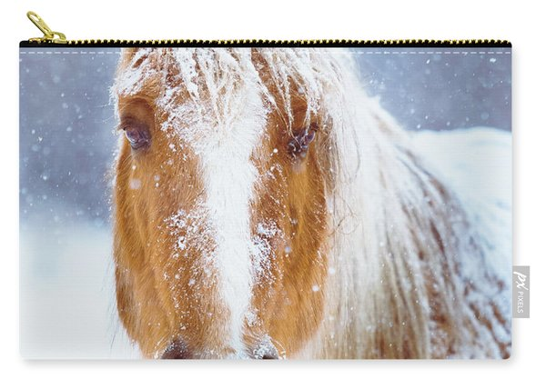Winter Horse Portrait Carry-all Pouch
