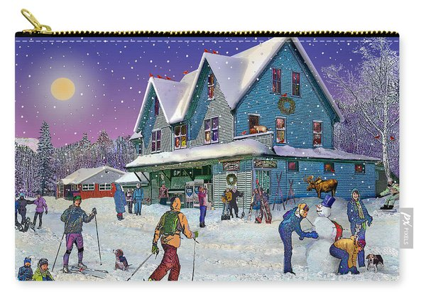 Winter In Campton Village Carry-all Pouch