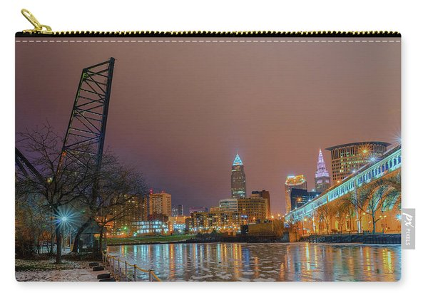 Winter In Cleveland, Ohio  Carry-all Pouch