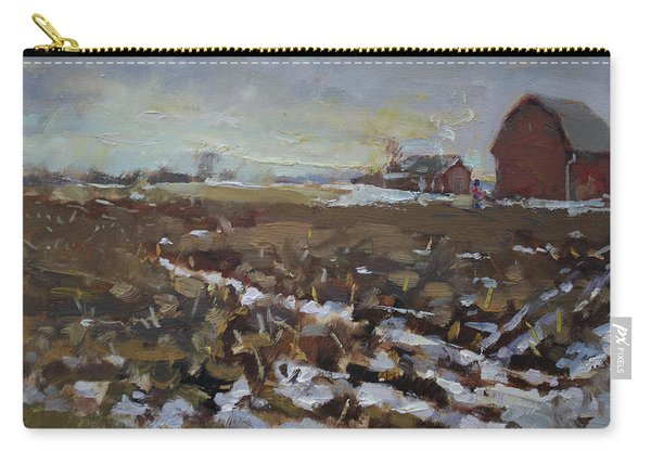 Winter In The Farm Carry-all Pouch