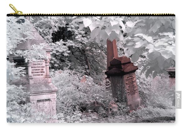Winter Infrared Cemetery Carry-all Pouch