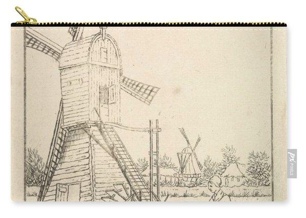 Winter Landscape With Windmill, Pieter De Goeje, 1789 - 1859 Carry-all Pouch