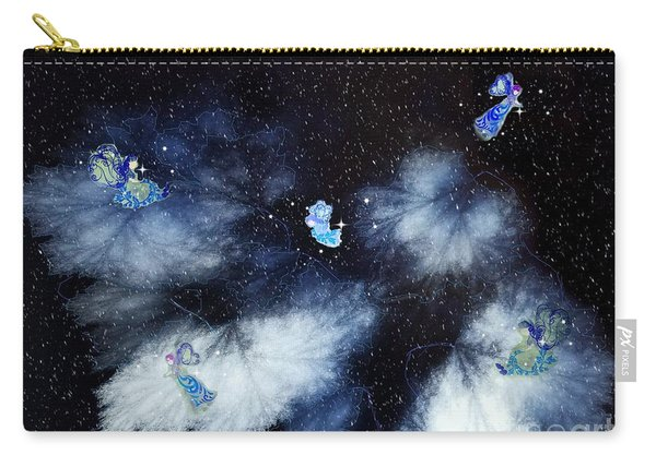 Winter Leaves And Fairies Carry-all Pouch