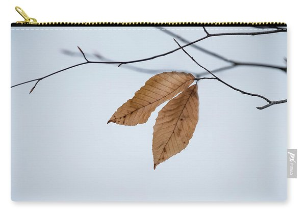 Carry-all Pouch featuring the photograph Winter Leaves by Tom Singleton
