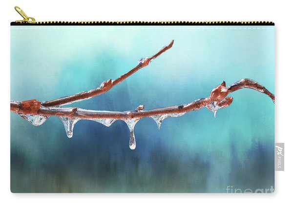 Winter Magic - Gleaming Ice On Viburnum Branches Carry-all Pouch