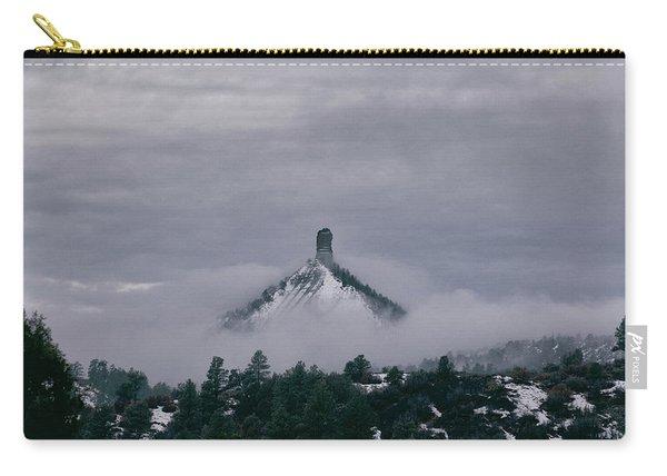 Winter Morning Fog Envelops Chimney Rock Carry-all Pouch