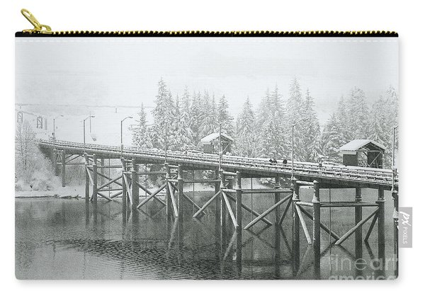Winter Morning In The Pier Carry-all Pouch