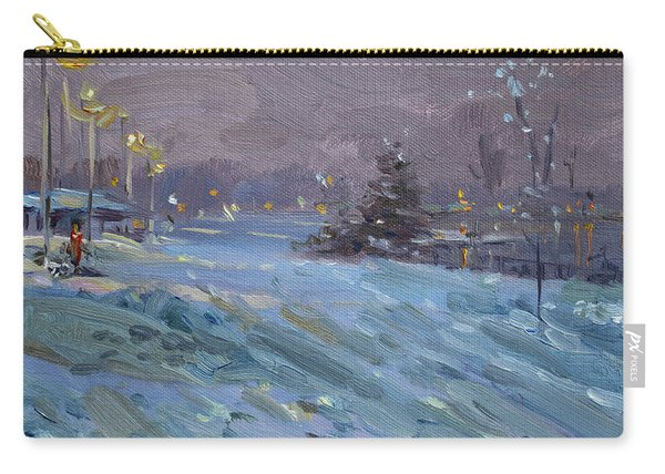 Winter Nocturne By Niagara River Carry-all Pouch