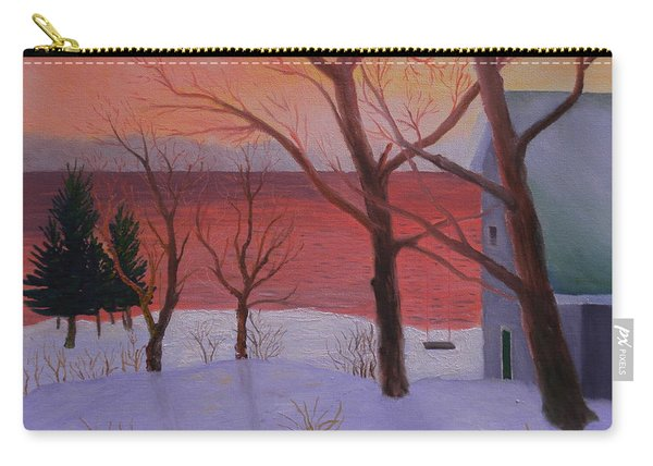 Winter Ocean Sunrise Carry-all Pouch