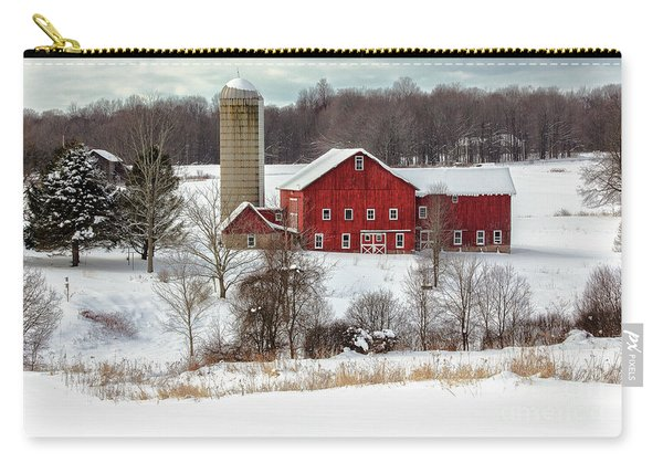 Winter On A Farm Carry-all Pouch