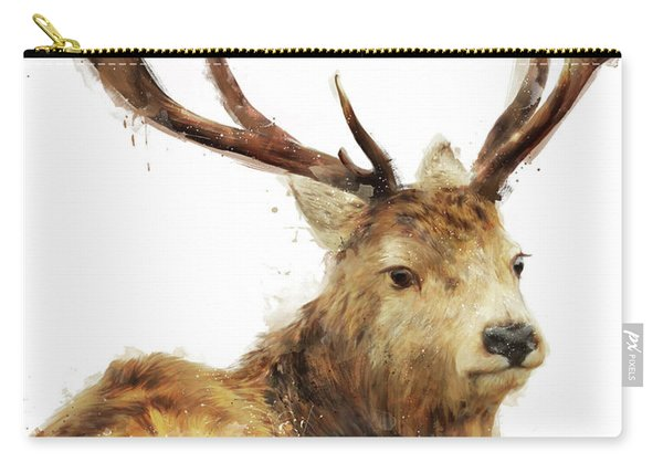 Winter Red Deer Carry-all Pouch