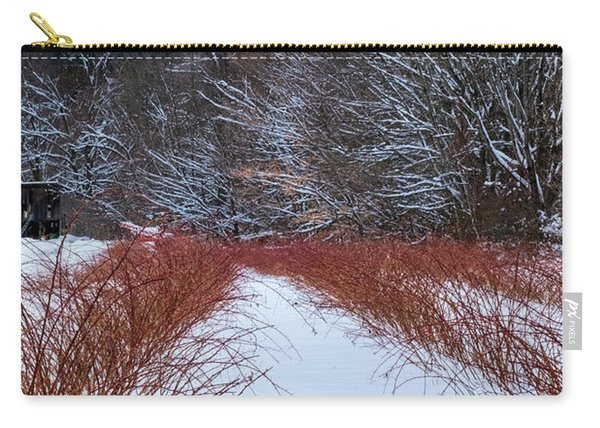 Carry-all Pouch featuring the photograph Winter Scene by Tom Singleton