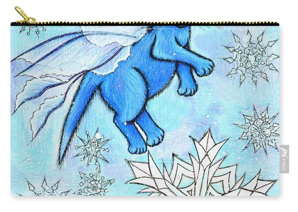 Winter Snowflake Fairy Cat Carry-all Pouch