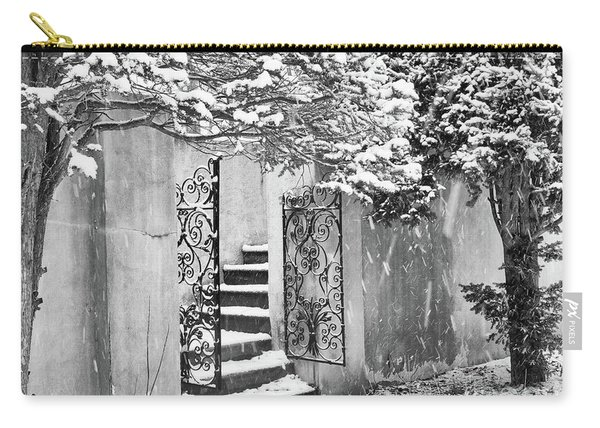 Winter Steps At The Vanderbilt In Centerport, Ny Carry-all Pouch
