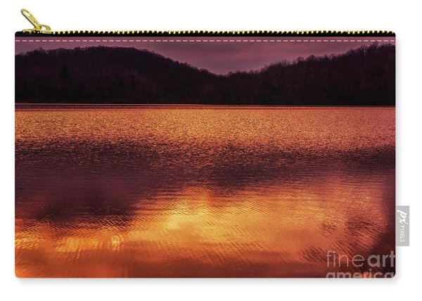 Winter Sunset Afterglow Reflection Carry-all Pouch