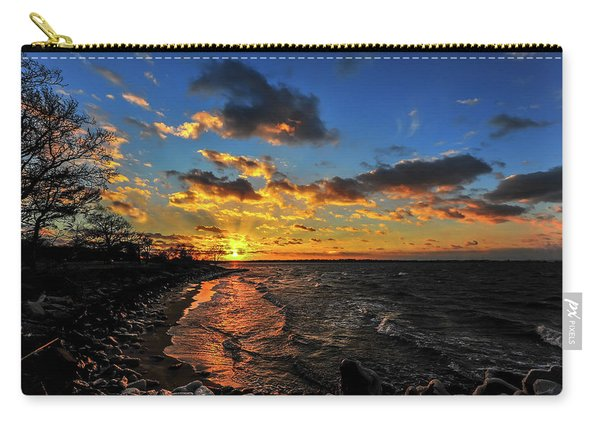 Winter Sunset On A Chesapeake Bay Beach Carry-all Pouch