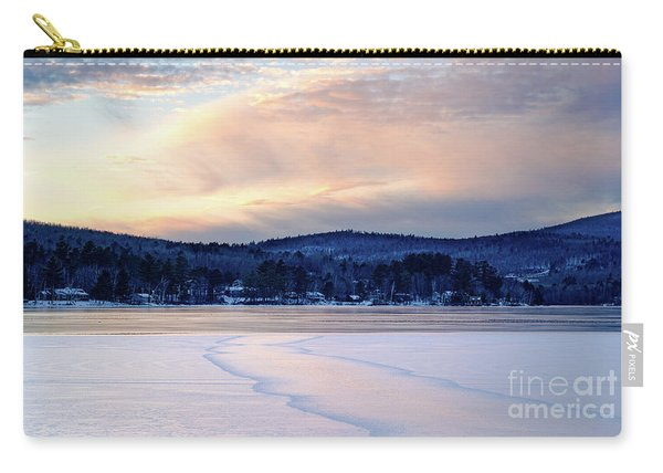 Winter Sunset On Wilson Lake In Wilton Me  -78091-78092 Carry-all Pouch