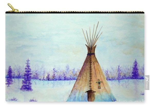 Winter Tepee Carry-all Pouch