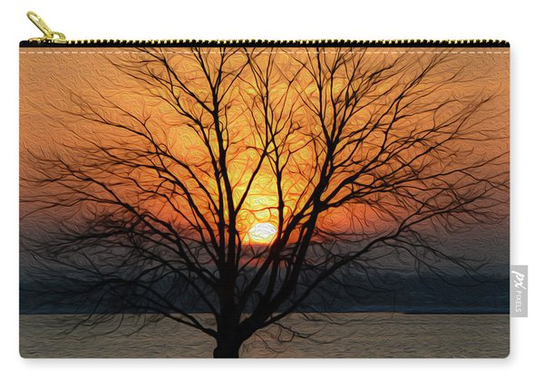 Winter Tree Sunrise Carry-all Pouch