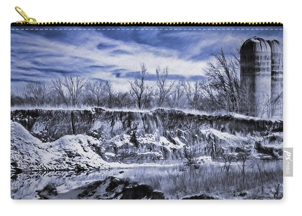 Winter Twin Silos Carry-all Pouch