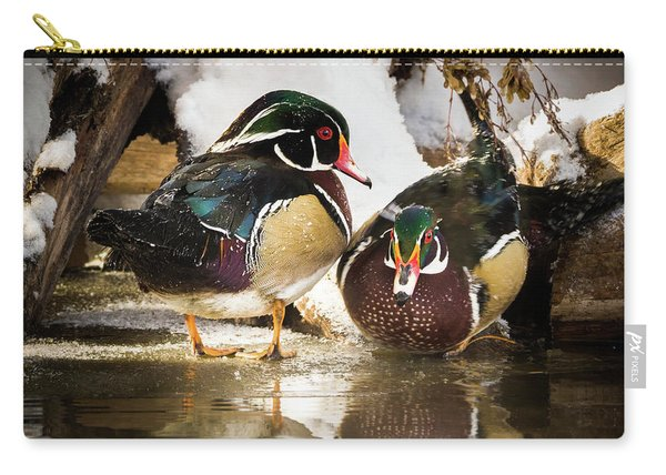 Winter Visitors - Wood Ducks Carry-all Pouch