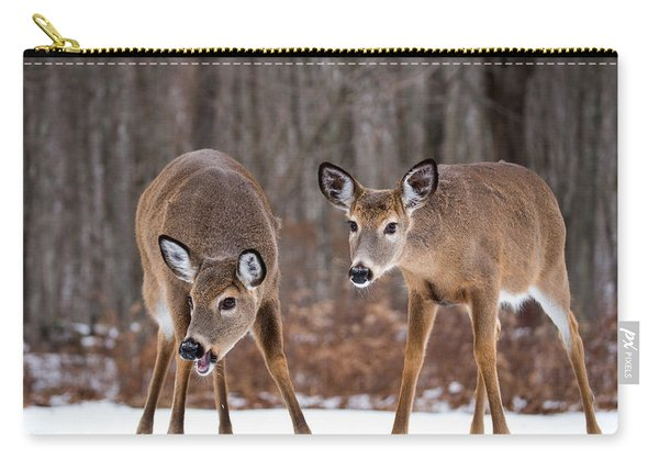 Winter White Tail Deer Carry-all Pouch