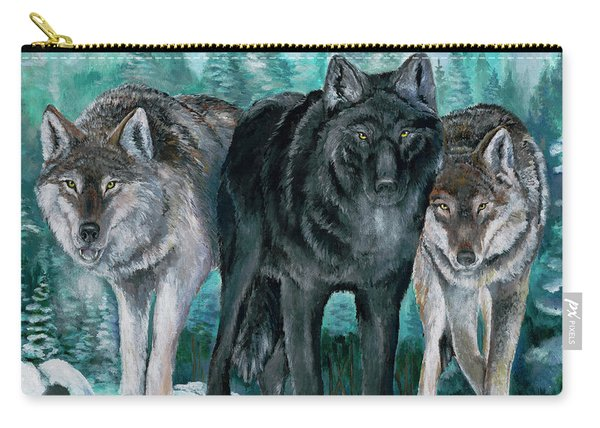 Winter Wolves Carry-all Pouch