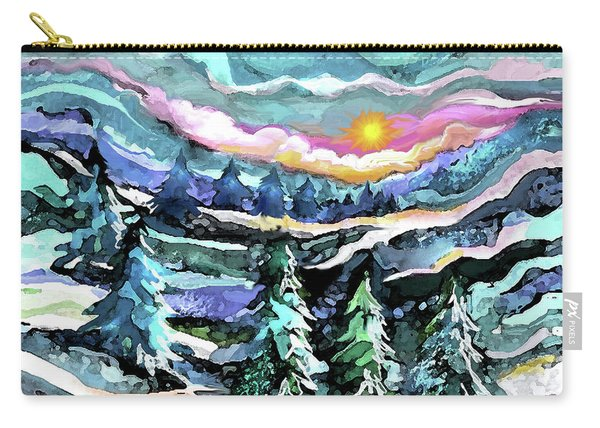 Winter Woods At Dusk Carry-all Pouch