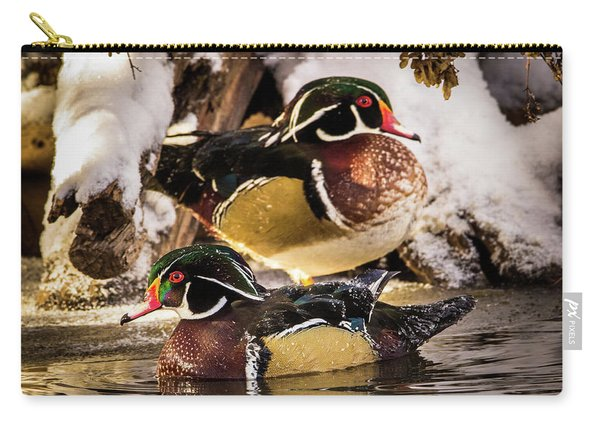 Wintering Wood Ducks Carry-all Pouch