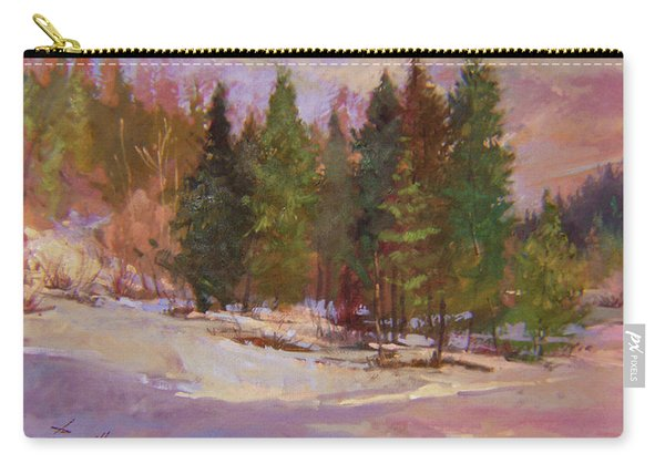 Winter's Eve Plein Air Carry-all Pouch