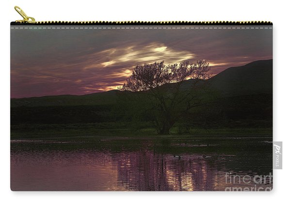 Carry-all Pouch featuring the photograph Winter's Light by Susan Warren