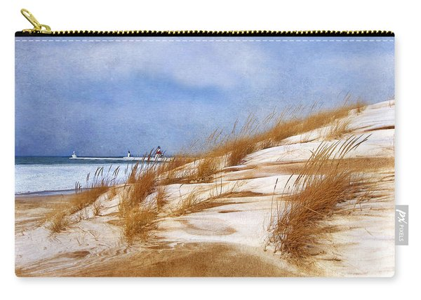 Wintertime St. Joe Lighthouse  Carry-all Pouch