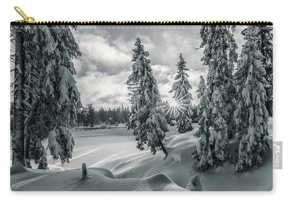 Winter Wonderland Harz In Monochrome Carry-all Pouch