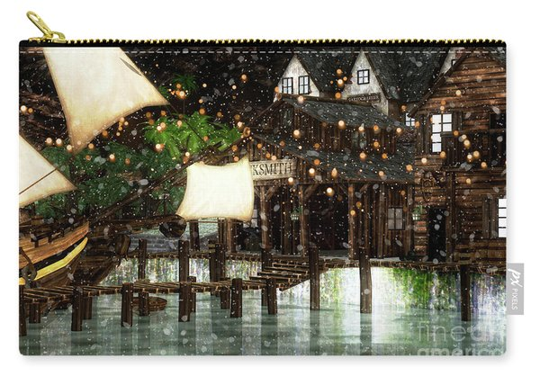 Wintery Inn Carry-all Pouch