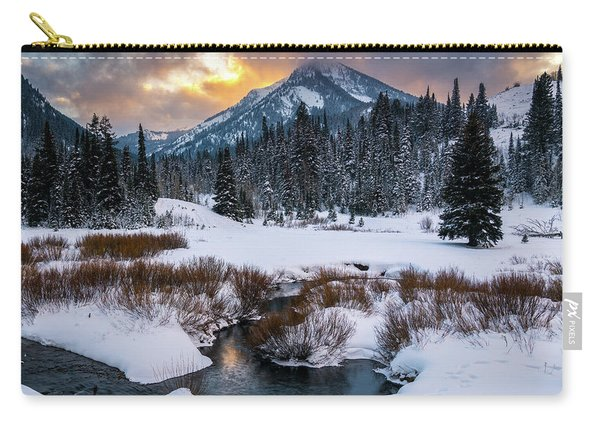 Wintery Wasatch Sunset Carry-all Pouch