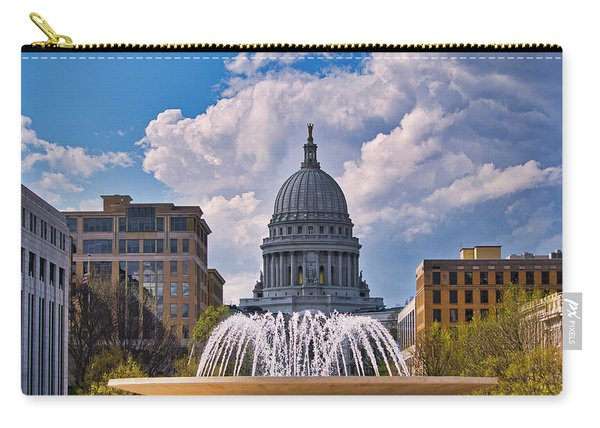 Wisconsin  Capitol And Fountain  Carry-all Pouch