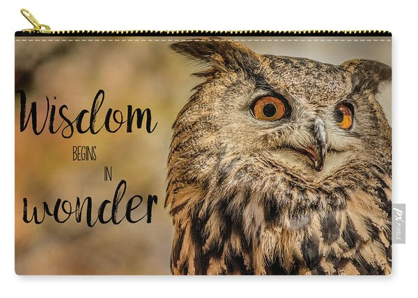 Wisdom Begins In Wonder Carry-all Pouch