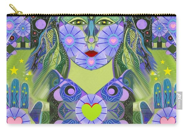 Carry-all Pouch featuring the digital art Wisdom Rising by Helena Tiainen