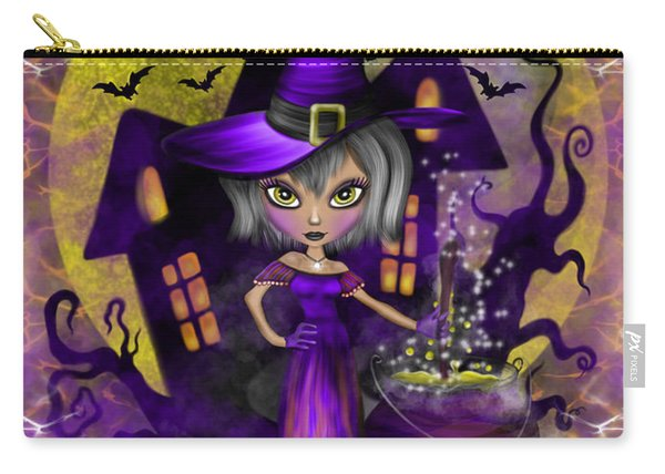 Carry-all Pouch featuring the painting Wisdom Witch Fantasy Art by Raphael Lopez
