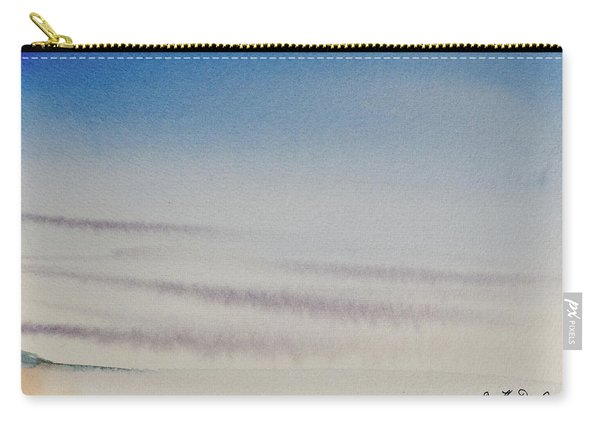 Wisps Of Clouds At Sunset Over A Calm Bay Carry-all Pouch