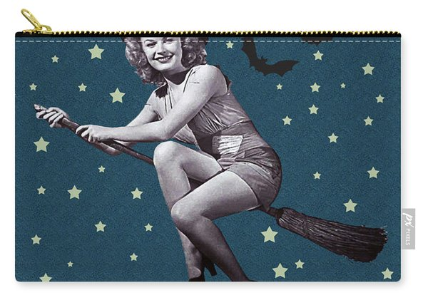 Witch Fly In Broom Carry-all Pouch