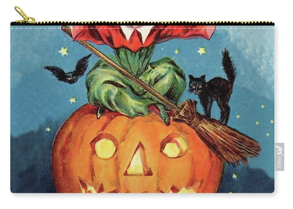 Witch In A Big Pumpkin Carry-all Pouch