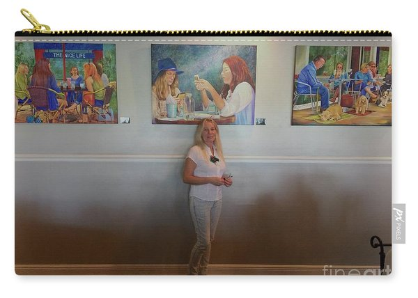 With 3 Paintings Carry-all Pouch