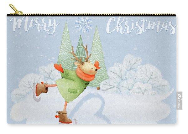 With All My Heart - Christmas Art Carry-all Pouch
