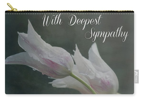 With Deepest Sympathy Carry-all Pouch