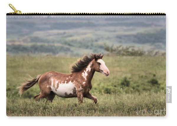 With Mane Flowing In The Wind Carry-all Pouch
