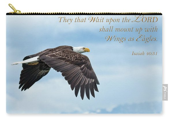 With Wings As Eagles Carry-all Pouch
