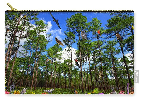 Withlacoochee State Forest Nature Collage Carry-all Pouch