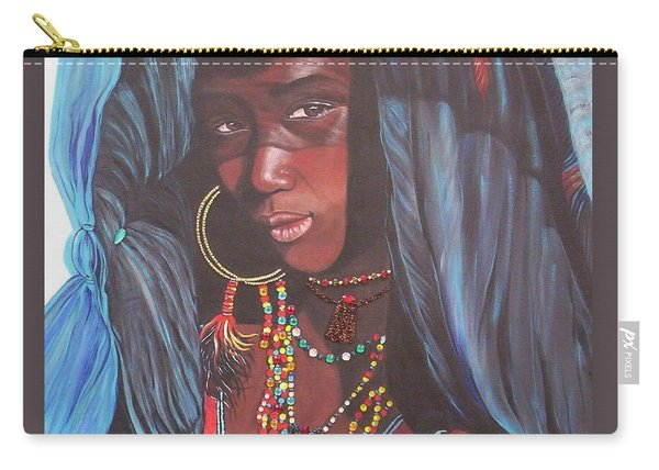 Virtuous Wodaabe Girl          From The Attitude Girls  Carry-all Pouch